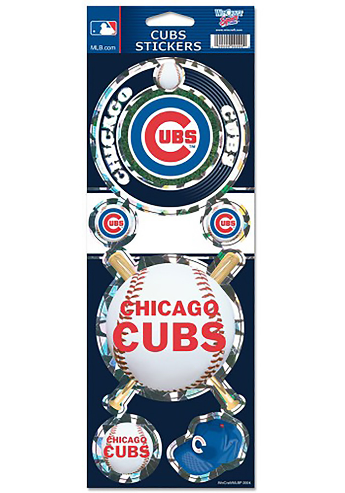 Chicago Cubs 4x11 Prismatic Stickers
