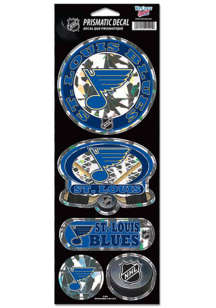 St Louis Blues 4x11 Prismatic Stickers - Image 1