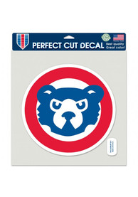 Chicago Cubs 8x8 inch Perfect Cut Cooperstown Auto Decal - Blue