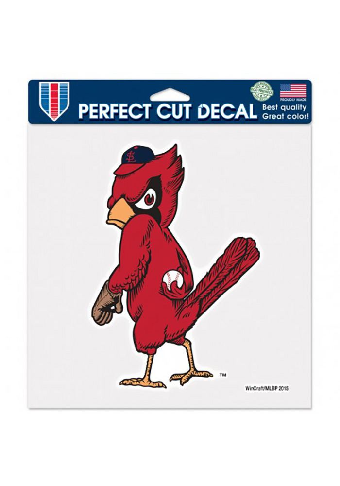 St Louis Cardinals 8x8 Perfect Cut Cooperstown Auto Decal - Red - Image 1
