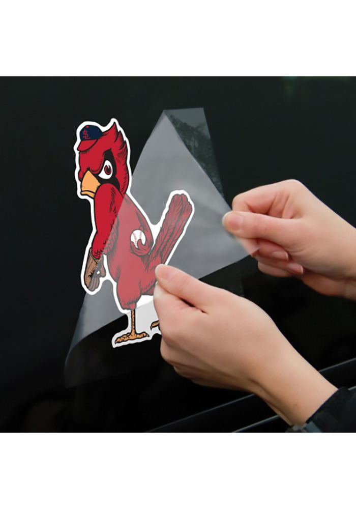 St Louis Cardinals 8x8 Perfect Cut Cooperstown Auto Decal - Red - Image 2