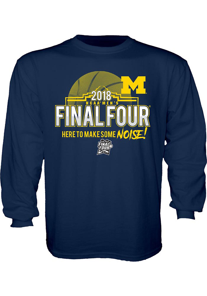 Michigan Wolverines Youth Navy Blue Buzzed Long Sleeve T-Shirt - Image 1