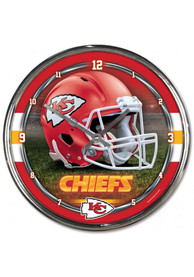 Kansas City Chiefs Chrome Helmet Wall Clock