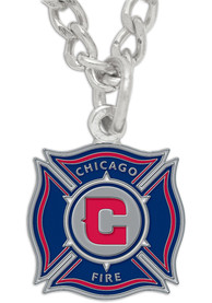 Chicago Fire Womens Logo Necklace - Navy Blue