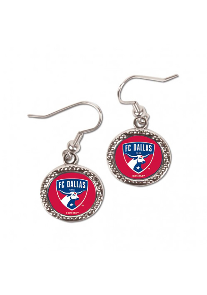 FC Dallas Hammered Womens Earrings - Image 1