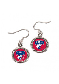 FC Dallas Womens Hammered Earrings - Red