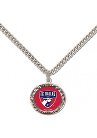 FC Dallas Womens Hammered Necklace - Red