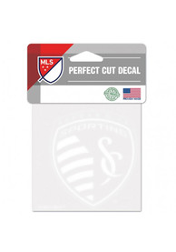 Sporting Kansas City Perfect Cut 4 X 4 Auto Decal - White