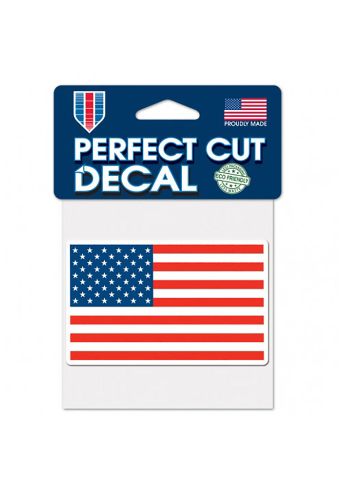 Team USA Patriotic 4x4 Flag Perfect Cut Decal - Image 1