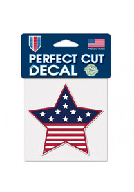 Team USA Patriotic 4x4 Star Perfect Cut Auto Decal - Blue