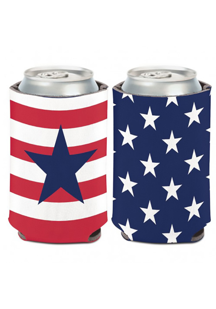Team USA Patriotic 12oz Flag & Star Koozie - Image 1