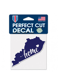 Kentucky 4x5 inch State Shape Auto Decal - Blue