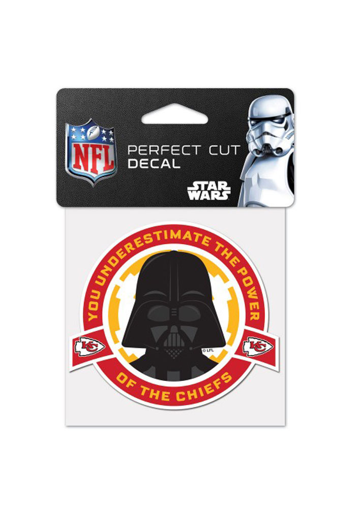 Kansas City Chiefs Darth Vader 4x4 inch Auto Decal - Red - Image 1