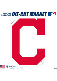 Cleveland Indians 12x12 inch Car Magnet - Navy Blue