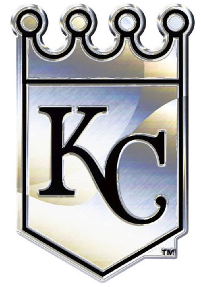 Kansas City Royals Chrome Car Emblem - Grey - Image 1