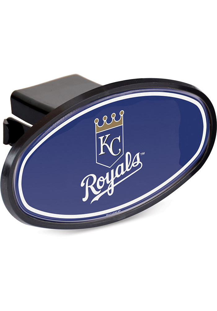 Kansas City Royals Plastic Oval Car Accessory Hitch Cover - Image 1