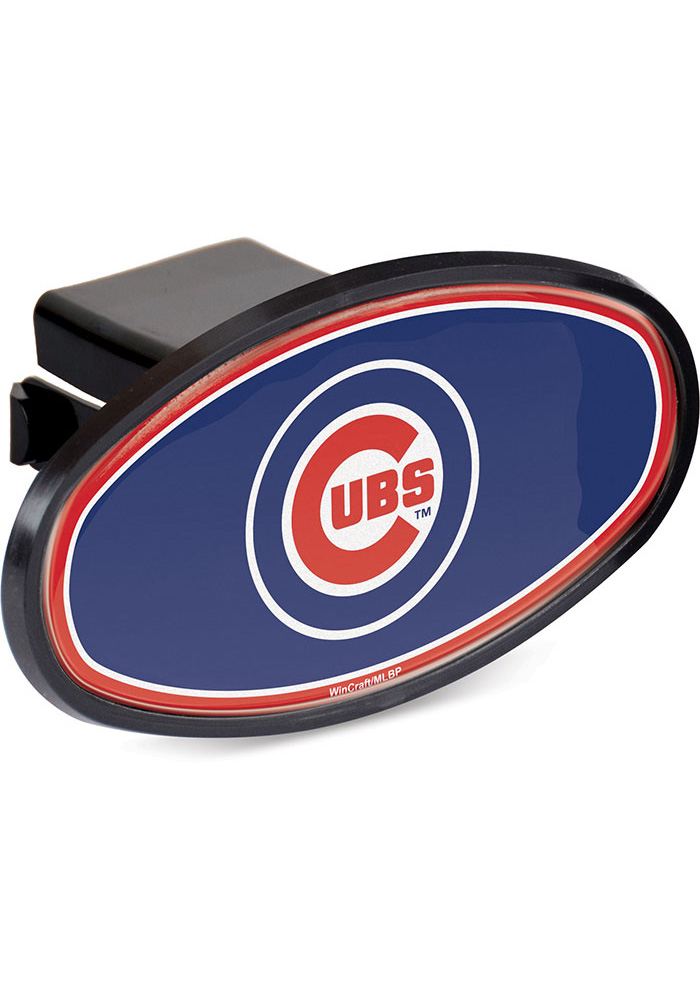 Chicago Cubs Plastic Oval Car Accessory Hitch Cover - Image 1