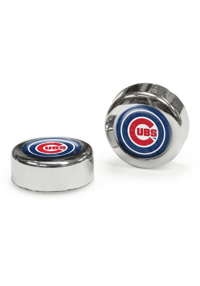 Chicago Cubs 2 Pack Auto Accessory Screw Cap Cover - Image 1