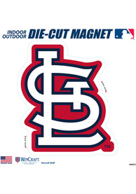 St Louis Cardinals 12x12 inch Car Magnet - Red