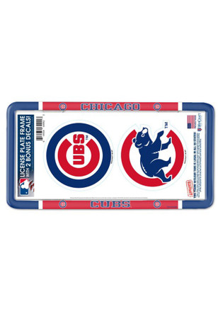 Chicago Cubs License Plate Frames | Chicago Cubs Car Decals ...
