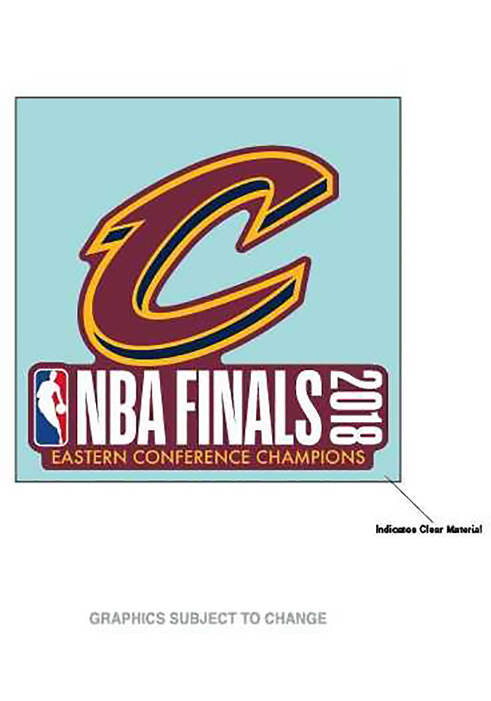 Cleveland Cavaliers 2018 NBA Finals 4x4 Decal - Image 1