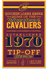 Cleveland Cavaliers 11x17 Wood Sign