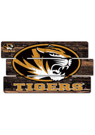 Missouri Tigers 14x25 inch Painted Fence Sign