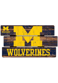 Michigan Wolverines 14x25 inch Painted Fence Sign