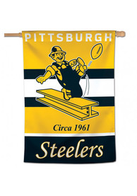 Pittsburgh Steelers 28x40 inch Retro Logo Vertical Banner