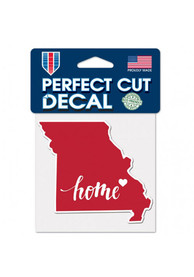 Missouri 4x5 inch State Shape Auto Decal - Red