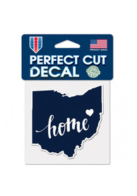 Ohio 4x5 inch State Shape Auto Decal - Blue