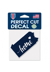 Pennsylvania 4x5 inch State Shape Auto Decal - Blue