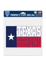 Texas 8x8 inch State Strong Auto Decal - White