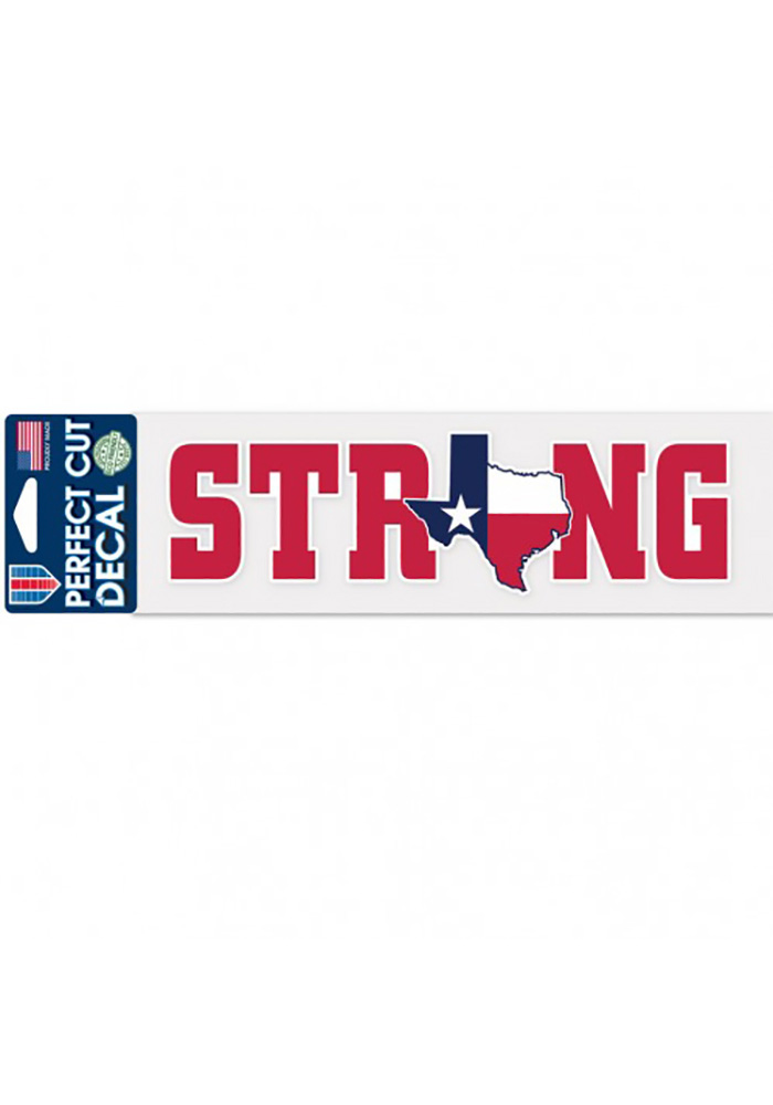 Texas 3x10 Inch Strong State Auto Decal - Red - Image 1