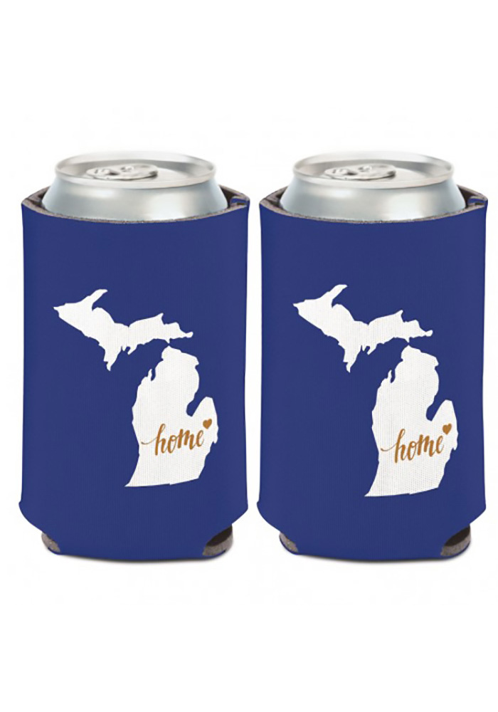 Michigan 12 oz State Shape Can Cooler Coolie - Image 1