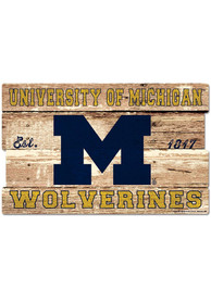 Michigan Wolverines 19x30 inch Wood Sign