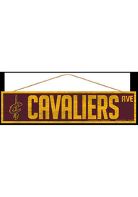 Cleveland Cavaliers 4x17 inch Wood Ave Sign