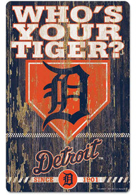 Detroit Tigers Team Established 11X17 Wood Sign