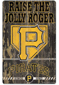 Pittsburgh Pirates Team Established 11X17 Wood Sign