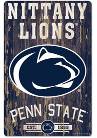 Penn State Nittany Lions Team Established 11X17 Wood Sign