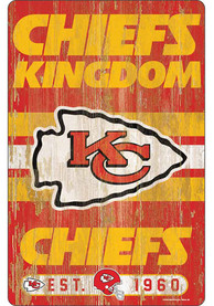 Kansas City Chiefs Team Established 11X17 Wood Sign