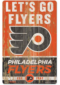 Philadelphia Flyers Team Established 11X17 Wood Sign