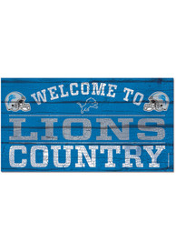 Detroit Lions Welcome To 13X24 Wood Sign