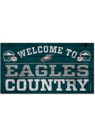 Philadelphia Eagles Welcome To 13X24 Wood Sign
