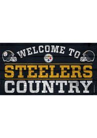 Pittsburgh Steelers Welcome To 13X24 Wood Sign