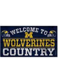 Michigan Wolverines Welcome To 13X24 Wood Sign
