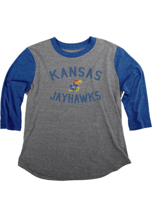 Kansas Jayhawks Womens Grey Baseball Women's Crew