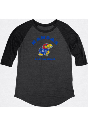 Kansas Jayhawks Womens Black Heritage Women's Crew