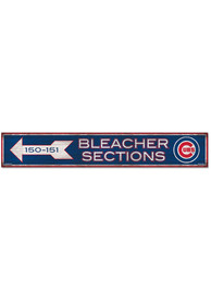 Chicago Cubs General Seating 6x36 Wood Sign