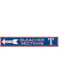 Texas Rangers General Seating 6x36 inch Wood Sign